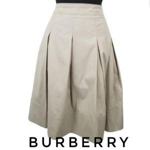 Burberry Pleated Khaki Tan Skirt 10